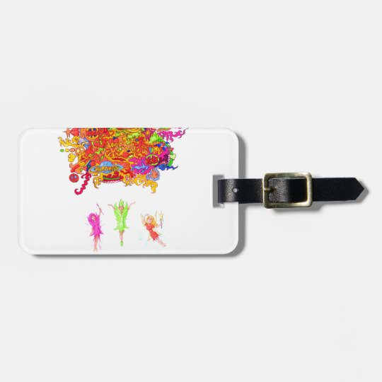 Peace, Love and Happiness Fairies. Luggage Tag