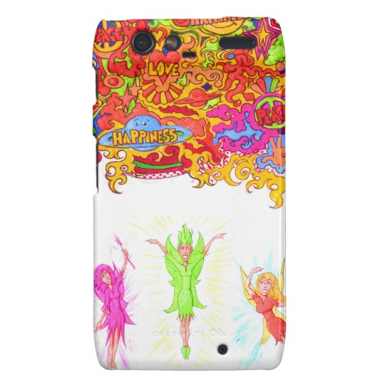 Peace, Love and Happiness Fairies. Motorola Droid RAZR Covers