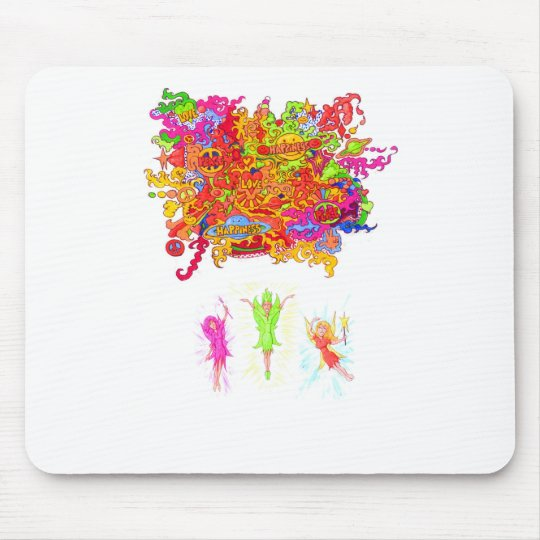 Peace, Love and Happiness Fairies. Mouse Pad