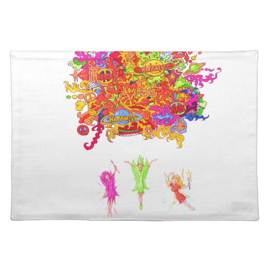 Peace, Love and Happiness Fairies. Placemat