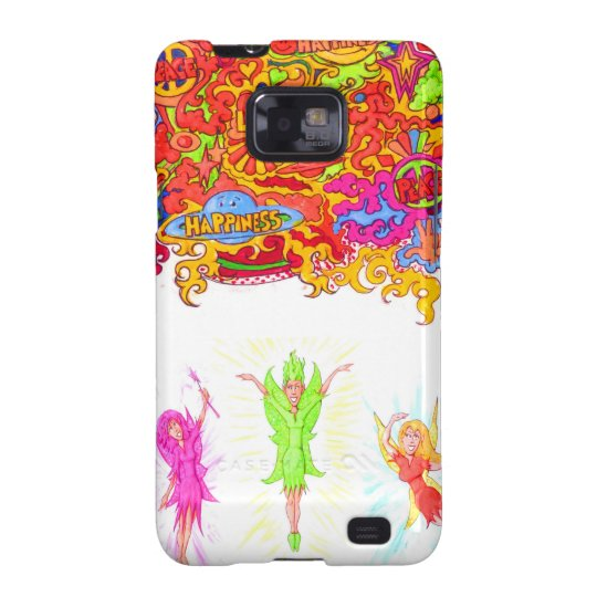 Peace, Love and Happiness Fairies. Samsung Galaxy S2 Cover