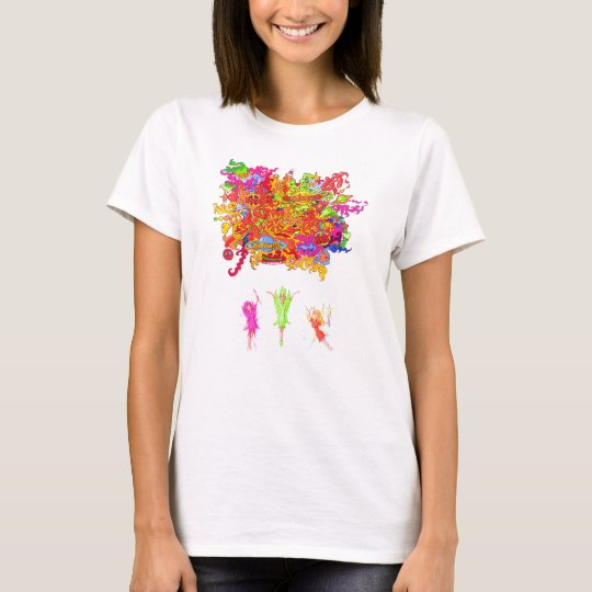 Peace, Love and Happiness Fairies. T-Shirt