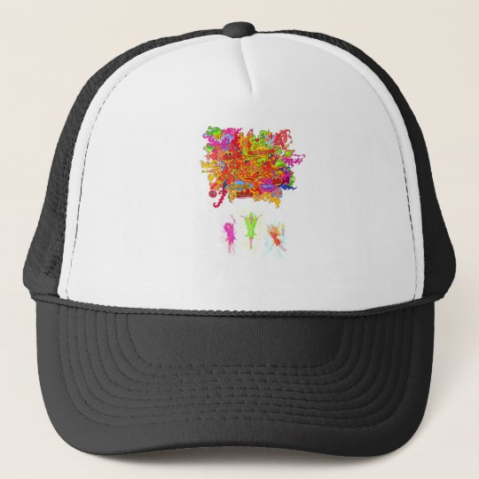 Peace, Love and Happiness Fairies. Trucker Hat