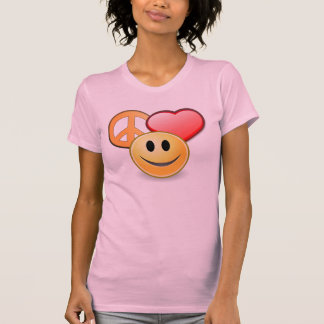 Peace Love and Happiness women's t-shirt