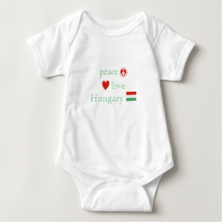 Peace Love and Hungary Baby Bodysuit