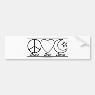 Peace Love and Islam Bumper Sticker