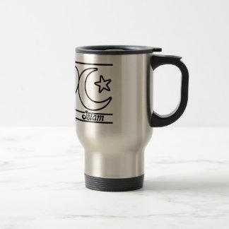 Peace Love and Islam Travel Mug