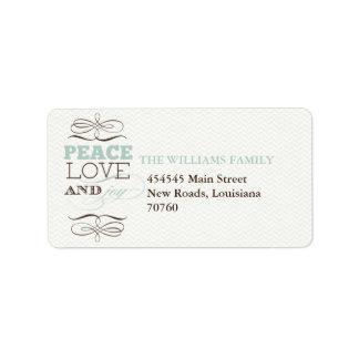 Peace Love and Joy Address Label