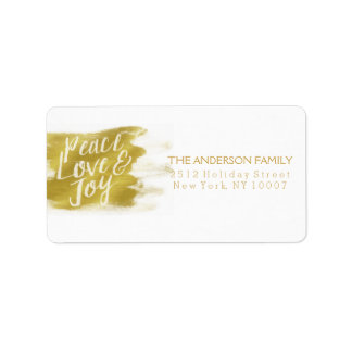Peace Love and Joy address label