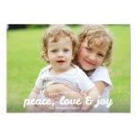 Peace Love and Joy Holiday Photocard 13 Cm X 18 Cm Invitation Card