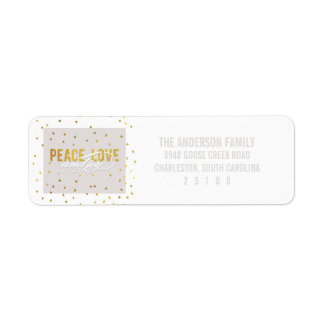 Peace Love and Joy Holiday Return Address Label