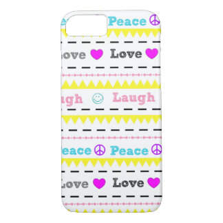 Peace Love and Laugh Modern iphone Case for Teens