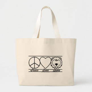 Peace Love and Lions Bags