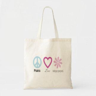 Peace Love and Macaroni Tote Bag