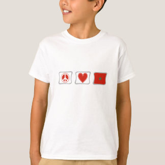 Peace Love and Morocco Squares T-Shirt