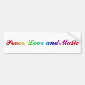 Peace, Love and Music Bumper Sticker