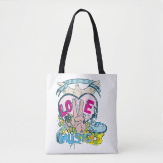 Peace, Love, And Music Tote Bag