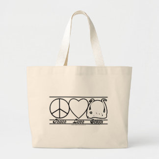 Peace Love and Octopi Tote Bag