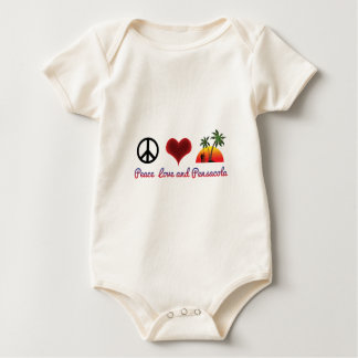 peace love and pensacola baby bodysuit