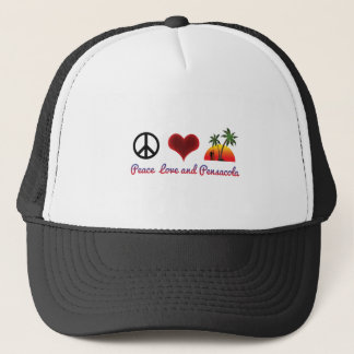 peace love and pensacola trucker hat