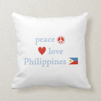 Peace Love and Philippines Throw Pillow