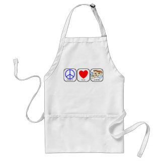 Peace, Love, and Pizza Standard Apron