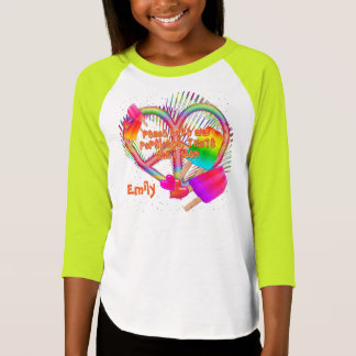 Peace Love and Popsicles-Girls Raglan Shirt