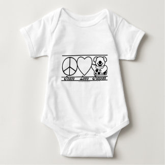 Peace Love and Puppets Baby Bodysuit