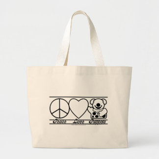 Peace Love and Puppets Tote Bag