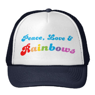 Peace Love and Rainbows Cap