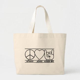 Peace Love and RockOn Bag