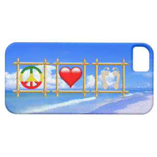 Peace, Love, And Sandy Feet iPhone 5 Covers