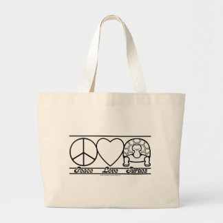 Peace Love and Turtles Bags