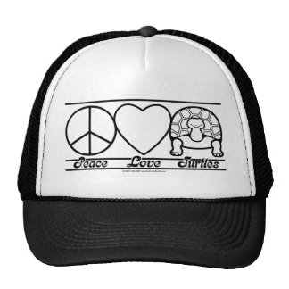 Peace Love and Turtles Hats
