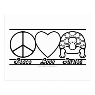 Peace Love and Turtles Postcard