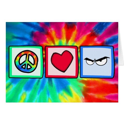 Peace, Love, Anger Card