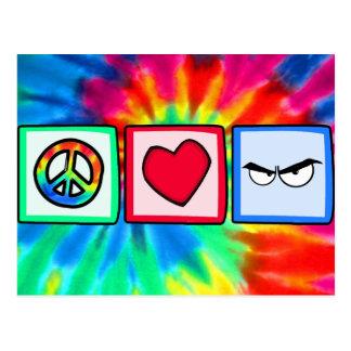 Peace, Love, Anger Postcard