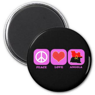 Peace Love Angola 6 Cm Round Magnet