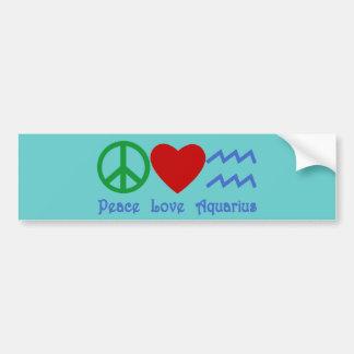 Peace Love Aquarius Products Bumper Sticker