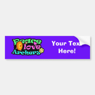 Peace, Love, Archery Bumper Sticker