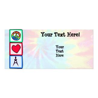 Peace, Love, Architects Rack Card Template