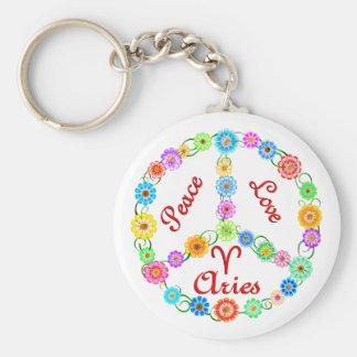 Peace Love Aries Key Ring