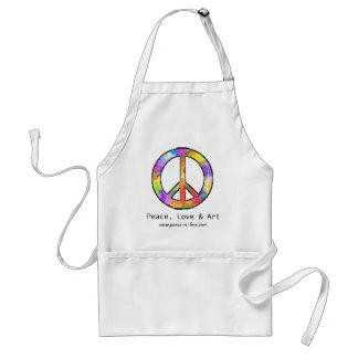 Peace, Love & Art Apron