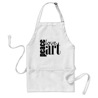 Peace Love Art Aprons