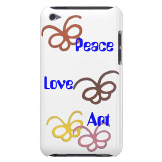 peace love art barely there iPod covers