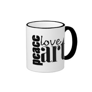 Peace Love Art Coffee Mug