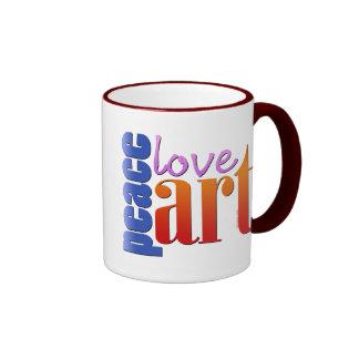 Peace Love Art II Coffee Mugs