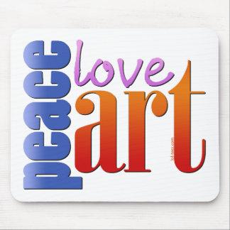 Peace Love Art II Mousepads