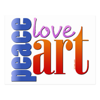 Peace Love Art II Postcard