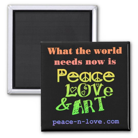 Peace, Love & Art Magnet